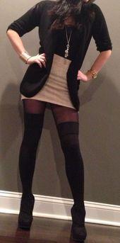 Idées de tenues d'automne avec des chaussettes overknee #falloutfits #fallfashions #fallfashi   – Schön