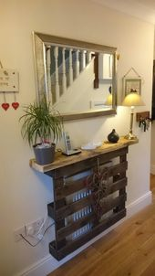 A cheeky radiator cover to neaten the look of a ha…