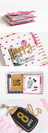 Acht: Ein Mini-Album von stephaniebryan im Studio Calico #CoupleScrapbooking   – Couple Scrapbooking