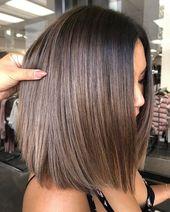 Stilvolle Ombre Balayage Frisuren für schulterlanges Haar 2019, mittlerer Haarschnitt