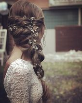 rustic wedding hair #wedding #hair #wedding hair bridal hairstyle half open for long …