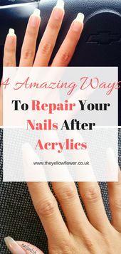 4 erstaunliche Möglichkeiten, um Ihre Nägel nach Acrylfarben zu reparieren   – nailart