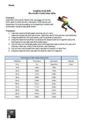 Graphing Usain Bolt Amped Up Learning Graphing Graphing Activities Usain Bolt