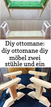 DIY ottoman: diy ottoman diy furniture two chairs and a board when i wood acr 4