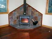 Slate Tile Wood Stove Surround