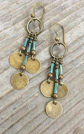 Bohemian Earrings, Boho Jewelry, Boho Chandelier Earrings, Bohemian Jewelry …