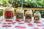 Vintage Hearth And Home Designs Burlap Sack Look Canister Set 6 Pieces 1988  | Pinterest | Hearths, Burlap Sacks And Canister Sets