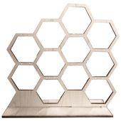 Wood Earring Display | Honeycomb Jewelry Display – #display #earring #honeycomb …