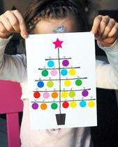 Carte Sapin de Noël en gommettes   Jouonsensemble.fr
