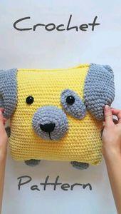 perro patrón de ganchillo, patrón de perro amigurumi, patrón de almohada de ganchillo, regalo de ganchillo de navidad   – Crafts