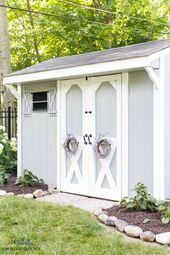 Outdoor Storage Shed Makeover Ideas  – DIY Outdoor Spaces Inspiration