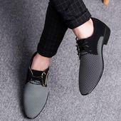 Zapatos planos de vestir formales casuales elegantes de gran tamaño para hombre   – My Style