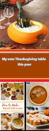 My own Thanksgiving table this year, using Pinterest as my inspiration My own Th…