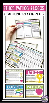 Help Your Students Understand The Difference Between Ethos Pathos And Logos With This Ready To Use Reso Ethos Pathos Logos Writing Instruction Writing Bundle