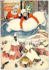 Frau Holle Illustrationen Illustration Deutsche Marchen Frau Holle Marchen