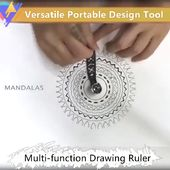 Versatile Portable Design Tool Multi-function Drawing Ruler