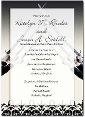 2017 Military Wedding Invitation Arch Of Sabers Card A Pinterest And Stuff