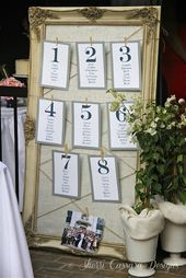 table assignment ideas for wedding | table assignment | For Kayla ...