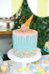 Ice Cream Inspired Birthday Party