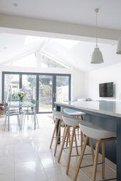 Open Plan, White Shaker Kitchen