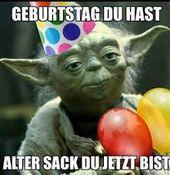 Yoda Geburtstag Alter Sack Top Pins Birthday Happy Birthday