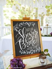 Beautiful + Inexpensive Fall Bridal Shower Ideas