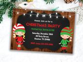 Items similar to Christmas invitations, Party Invitations, Printable Invitations, Xmas Invitations, Holiday Invitations, Party printable, Holiday Printable on Etsy