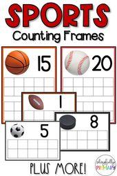Sportzählrahmen | Math Center Aktivitäten   – Mini Eraser Activities