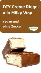 DIY Cream Bar à la Milky Way – vegan, ohne Zucker   – gesunde Ernährung