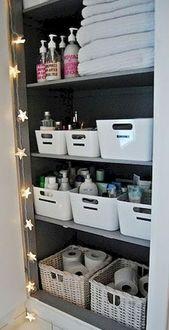 40 tolle DIY-Ideen für die Organisation und Lagerung von Badezimmern – #aufbewa…