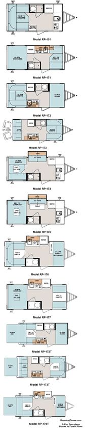 Forest River R Pod Ultra Lite Travel Trailer Floorplans Travel Trailer Floor Plans Travel Trailer Remodel Fleetwood Travel Trailers