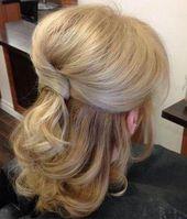 Frisuren für mittellanges Haar über 50 Half Up Half Down 57+ Ideen #Haar #Hochzeitsfrisuren