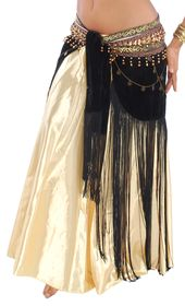 Gold Wavy Pants Bloomers Belly Dance Costume Set 4 Pics Top Hip Scarf /& Veil