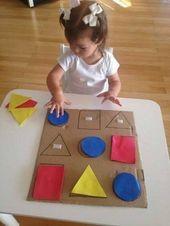 Papier mit Bastelideen zu Hause   – Formen, Zahlen, Farben