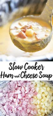 A hearty bowl of Slow Cooker Ham and Cheese Soup is the perfect way to warm up! …   – great food