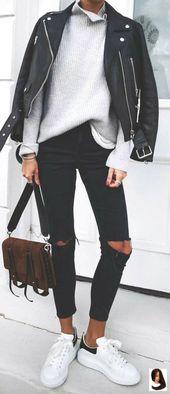 Über 30 stylische Winteroutfits für diese Saison | Beste Frisuren  30 elegante… – ripped jeans