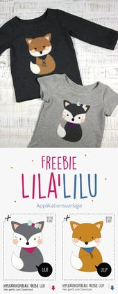 Tutorial & Freebie »Application template and tutorial LILA'LILU  – DIY – Nähanleitungen