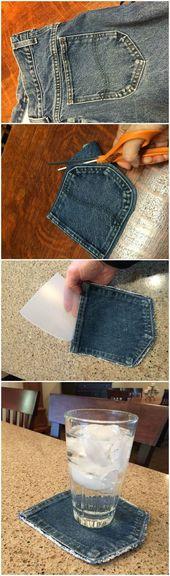 DIY Blue-Jean Untersetzer