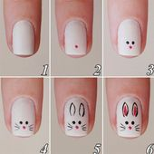 10+ Easy Step by Step Easter Nail Art Tutorials for Learners 2018