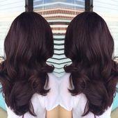15+ Trendy schokoladenbraunes Haar mit violetter Farbe