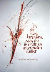Schriftbilder – Kalligraphie und KunstKalligraphie…