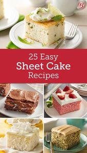 Einfache Blechkuchen, die Sie ausprobieren müssen   – Sweet things