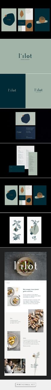 Branding board and complete brand identity for a modern and arty brand that is colorful, yet minimalist. Blue and mint green combined to a color palette that looks professional and functional with a p – jewellery
