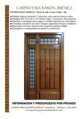 Puertas De Calle En Madera Maciza Tropical De Segunda Mano Por 1 En Tomelloso En Wallapop Madera Maciza Puertas De Calle Losas Macizas