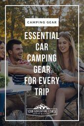 La meilleure liste de matériel de camping automobile  – Backpacking Gear