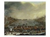 The Frost Honest of the Winter of 1683-Four on the Thames, with Previous London Bridge within the Distance C.1685 Giclee Print by English
