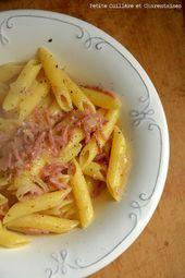 Pâtes au jambon italien // # pâtes   – My little Italy {petite cuillère et charentaises}