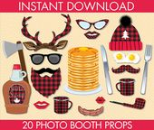 Lumberjack Silly PLAID Photo Booth Props – PLAID Lumberjack Party, Woodland, Great Outdoors – 19 DIY Printable Props Instant Download PDFs – Area Convention Ideas