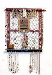 Organisateur de bijoux mural et affichage