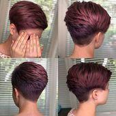 25 Ideen für kurze Pixie-Frisuren für Frauen   – Pixie Frisuren